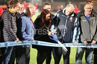 Danske Bank Premiership, Showgrounds, Ballymena 2/11/2018. Ballymena United v Glenavon FC. Mid and East Antrim borough Council Mayor UUP Councillor Lindsay Millar official opens the new pitch before Ballymena United and Glenavon.. Mandatory Credit @INPHO/Brian Little.