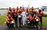 Presseye Northern Ireland - 05th June 2012 Mandatory Credit - Photo-William Cherry/Presseye. Lough Neagh Rescue with Torch Bearer Eorann O\'Neill as the Olympic Flame makes its way across Lough Neagh on board a local fishing boat. The Torch travelled across the water from Antrim Harbour to Ballyronan on the final day of the Olympic Torch Relay. It also visited Newcastle, Downpatrick and Ballymena, as once again thousands of people came out to cheer the Torch despite the rain, before departing from Larne Harbour for Scotland at 4pm.