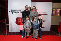 Press Eye - Belfast - Northern Ireland - 30th September 2018 - . Lynne, Stuart, Logan, Mason and Lucas Harper pictured at Movie House Dublin Road for a special preview screening of upcoming comedy, JOHNNY ENGLISH STRIKES AGAIN, in cinemas across Northern Ireland from Friday 5th October.. Photo by Kelvin Boyes / Press Eye..