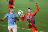 Danske Bank Premiership, Showgrounds, Ballymena 2/11/2018. Ballymena United v Glenavon FC. Ballymena United  Scott Whiteside   and   Stephen Murray    of Glenavon.. Mandatory Credit @INPHO/Brian Little.