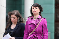PressEye - Belfast - Northern Ireland - 06th November 2018. Pictured: Solicitor Jemma Conlon, and Grainne Teggart of Amnesty International. legal challenge in the High Court today over a woman being prosecuted for procuring an abortion for her teenage daughter. . Picture: Philip Magowan / PressEye
