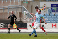 Sadler\'s Peaky Blinders Irish Cup First Round. The Showgrounds, Ballymena, Northern Ireland 27/4/21. Ballymena United vs Portadown. Portadowns Lee Bonis scores, and Ballymenas James Ervin. Mandatory Credit INPHO/PressEye/Philip Magowan