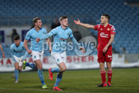 Sadler\'s Peaky Blinders Irish Cup First Round. The Showgrounds, Ballymena, Northern Ireland 27/4/21. Ballymena United vs Portadown. Ballymena\'s Paul McElroy celebrates. Mandatory Credit INPHO/PressEye/Philip Magowan