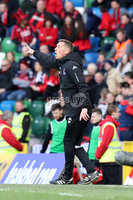 Tennent\'s Irish Cup Final - Ballinamallard United vs Crusaders - National Football Stadium - Windsor Park - Belfast - 4/5/19. Ballinamallard United vs Crusaders. Mandatory Credit INPHO/Declan Roughan. Crusaders Manager Stephen Baxter