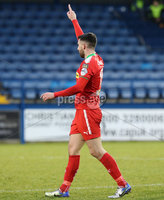 Danske Bank Premiership, Mourneview Park, Lurgan, Co. Armagh 13/1/2018. Glenavon vs Cliftonville. Cliftonville\'s Joe Gormley celebrates his goal. Mandatory Credit ©INPHO/Declan Roughan
