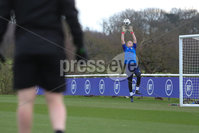PressEye - Belfast - Northern Ireland - 22nd February 2021. Northern Ireland\'s Maddy Harvey-Clifford during Monday afternoons training session ahead of Tuesday\'s Women\'s Friendly International against England at St George\'s Park, England. . Picture: Philip Magowan / Press Eye.