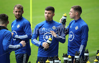 Press Eye - Belfast, Northern Ireland - 01st September 2020 - Photo by William Cherry/Presseye. Northern Ireland\'s Niall McGinn, Jordan Jones and Gavin Whyte during Tuesday mornings training session at the National Stadium at Windsor Park, Belfast ahead of Friday nights Nations League game in Romania.    Photo by William Cherry/Presseye