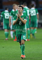 Press Eye - Belfast -  Northern Ireland - 11th June 2019 - Photo by William Cherry/Presseye. Northern Ireland\'s Jordan Jones after defeating Belarus 1-0 during Tuesday nights UEFA EURO 2020 Qualifier at the Borisov Arena, Belarus.      Photo by William Cherry/Presseye