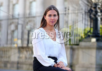 Press Eye - Belfast - Northern Ireland - 20th February 2020. Alliance Party Cllr Sorcha Eastwood pictured outside the High Court in Belfast where she settled her case against the DUPs Graham Craig after he called her a mouthpiece for the Provisional IRA.. See copy by Alan Erwin.   . Picture by Jonathan Porter/PressEye