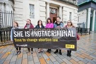 PressEye - Belfast - Northern Ireland - 06th November 2018. Pictured: Pro-Choice campaigners outside court.. Picture: Philip Magowan / PressEye