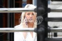Press Eye - High Court Belfast - 5th October 2018. Photograph By Declan Roughan. Sarah Ewart leaves  the High Court in Belfast.