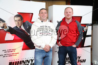 Press Eye - Belfast - Northern Ireland - 30th September 2018 - . Paul Currie and David Edgar pictured at Movie House Dublin Road for a special preview screening of upcoming comedy, JOHNNY ENGLISH STRIKES AGAIN, in cinemas across Northern Ireland from Friday 5th October.. Photo by Kelvin Boyes / Press Eye..