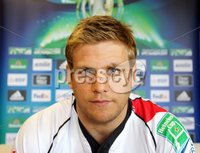 ©Press Eye Ltd Northern Ireland -15th May 2012. Mandatory Credit - Picture by Darren Kidd/Presseye.com .  Ulster Rugby press conference ahead of the Heineken Cup Final on Saturday 19th May. Ulster\'s Chris Henry.