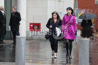 PressEye - Belfast - Northern Ireland - 06th November 2018. Pictured: Solicitor Jemma Conlon, and Grainne Teggart of Amnesty International.legal challenge in the High Court today over a woman being prosecuted for procuring an abortion for her teenage daughter. . Picture: Philip Magowan / PressEye