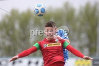 Danske Bank Premiership, Showgrounds, Coleraine , Co. Derry. Northern Ireland 1/5/2021. Coleraine V Cliftonville. Cliftonvilles Ryan Curran and Colerines Aaron Traynor.. Mandatory Credit INPHO/Presseye/Lorcan Doherty.