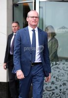 Press Eye - Belfast - Northern Ireland - 20th May 2019 -  . Tnaiste Simon Coveney pictured at a press conference at the Stormont Hotel following meetings with the political parties.. Photo by Kelvin Boyes  / Press Eye..