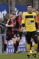 Danske Bank Premiership, Seaview Belfast.. 10/02/2018.  Crusaders v Glentoran. Crusaders Gavin Whyte celebrates after he  fires his side into a 4-1 lead. Mandatory Credit ©INPHO/Stephen Hamilton.