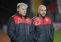 Picture - Kevin Scott / Presseye. Belfast , UK - NOVEMBER 21, Pictured is Cliftonvilles\' Mal Donaghy and Gerard Lyttle in action during the game at Solitude in Belfast, Northern Ireland on November 21 (Photo by Kevin Scott / Presseye).