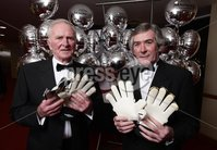 Press Eye - Belfast - Northern Ireland - 19th January 2009 -   Belfast Telegraph Sports Awards sponsored by Magners.. Former soccer stars Harry Gregg with Pat Jennings.. Picture by Kelvin Boyes / Press Eye..