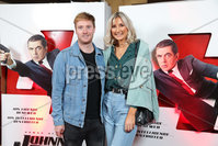 Press Eye - Belfast - Northern Ireland - 30th September 2018 - . Gary Moore and Ivona Moore pictured at Movie House Dublin Road for a special preview screening of upcoming comedy, JOHNNY ENGLISH STRIKES AGAIN, in cinemas across Northern Ireland from Friday 5th October.. Photo by Kelvin Boyes / Press Eye..