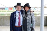 Press Eye - Belfast - Northern Ireland - 3rd November 2018 . Down Royal Festival of Racing - Day 2. Nigel and Margaret Simpson pictured at Down Royal . Photo by Kelvin Boyes / Press Eye..