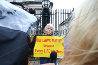 PressEye - Belfast - Northern Ireland - 06th November 2018. Pictured: Northern Ireland pro-life leader Bernadette Smyth outside court.. Picture: Philip Magowan / PressEye
