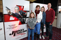 Press Eye - Belfast - Northern Ireland - 30th September 2018 - . David, Samatha, Beth and Denise Watson pictured at Movie House Dublin Road for a special preview screening of upcoming comedy, JOHNNY ENGLISH STRIKES AGAIN, in cinemas across Northern Ireland from Friday 5th October.. Photo by Kelvin Boyes / Press Eye..