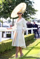 Press Eye - Belfast - Northern Ireland - 22nd June 2019 - . Summer Festival Of Racing Day 2 at Down Royal Racecourse.. Fashion First Past the Post for Down Royal Best Dressed Winner. Racing fans and Irelands style elite showed off their fashion credentials at Down Royal Summer Festival of Racing with Suzanne Gallagher from Sligo taking the Best Dressed Lady title.. The Best Dressed Competition, in association with Jack Murphy Jewellers, was judged by Irish lifestyle influencer and VIP Style Awards Most Stylish Influencer, Louise Cooney, Cool FM Breakfast Show Presenter and Fashion Stylist, Rebecca McKinney and Catrina McGleenon from Franklins Retail.. Suzanne took home an amazing prize package worth 3,500 including spectacular jewellery from Jack Murphy Jewellers to the value of 3,000, as well as a case of Tattinger champagne and a host of other goodies.  . Photo by Kelvin Boyes / Press Eye..