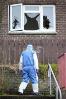 Press Eye - Belfast - Northern Ireland - 14th January 2018. The Scene at Castleview in Killyleagh, Co. Down, where an overnight gun attack damaged a property. . Picture by Jonathan Porter/PressEye