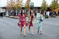 Press Eye - Belfast - Northern Ireland - 3rd November 2018 . Down Royal Festival of Racing - Day 2. Kathryn Boyle, Sinead Mulholland and Nicole O\'Neill pictured at Down Royal . Photo by Kelvin Boyes / Press Eye..