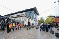PressEye - Belfast - Northern Ireland - 06th November 2018. Pictured: Pro-life campaigners and pro-choice campaigners outside court.. Picture: Philip Magowan / PressEye