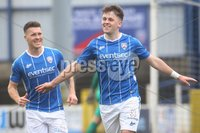 Danske Bank Premiership, Showgrounds, Coleraine , Co. Derry. Northern Ireland 1/5/2021. Coleraine V Cliftonville. Coleraines Ben Doherty celebrates his second goal.. Mandatory Credit INPHO/Presseye/Lorcan Doherty.
