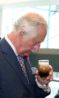 22 May 2019, Mandatory Credit Press Eye/Darren Kidd.  The Prince of Wales and Duchess of Cornwall during their visit to The Grand Central Hotel Belfast on the second day of their visit to Northern Ireland. . The Prince of Wales samples Belfast Black by Whitewater Brewery
