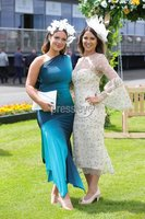 Press Eye - Belfast - Northern Ireland - 22nd June 2019 - . Summer Festival Of Racing Day 2 at Down Royal Racecourse.. Ellena Magowan and Kim Kelly pictured at Down Royal Racecourse.. Photo by Kelvin Boyes / Press Eye.