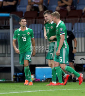 Press Eye - Belfast -  Northern Ireland - 11th June 2019 - Photo by William Cherry/Presseye. Northern Ireland\'s Paddy McNair celebrates scoring against Belarus during Tuesday nights UEFA EURO 2020 Qualifier at the Borisov Arena, Belarus.      Photo by William Cherry/Presseye