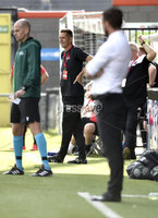 11th July 2019. Europa league First round qualifying match between Crusaders and B36 Torshavn at Seaview Belfast.. Crusaders manager Stephen Baxter. Mandatory Credit / Stephen Hamilton/Inpho