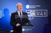 Press Eye - Belfast - Northern Ireland - 13th January 2021. Chief Scientific Advisor Professor addresses the media during a press conference at Parliament Buildings, Stormont.. Picture by Kelvin Boyes / Press Eye.