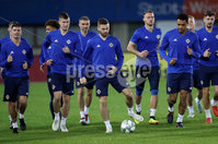 Press Eye - Belfast -  Northern Ireland - 11th October 2018 - Photo by William Cherry/Presseye. Northern Ireland\'s players during Thursday nights training session at the Ernst Happel Stadium in Vienna, ahead of their UEFA Nations League game against Austria.