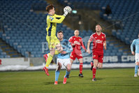 Sadler\'s Peaky Blinders Irish Cup First Round. The Showgrounds, Ballymena, Northern Ireland 27/4/21. Ballymena United vs Portadown. Portadowns Jacob Carney. Mandatory Credit INPHO/PressEye/Philip Magowan