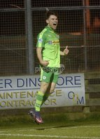 Danske Bank Premiership, Milltown Playing Fields, Newry 13/2/2018. Warrenpoint Town vs Cliftonville. Mandatory Credit ©INPHO/Stephen Hamilton. Cliftonvilles Conor McDonald celebrates after he fires the Reds into a 2-0 lead