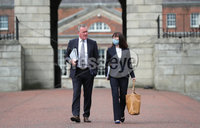 Press Eye - Belfast - Northern Ireland - 31st July 2020 - . Ministers Nichola Mallon and Conor Murphy at the meeting of the North South Ministerial Council at Dublin Castle.. Photo by Kelvin Boyes / Press Eye..