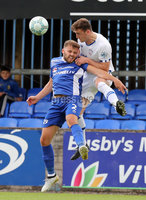 Press Eye - Danske Bank Premiership  - 12th August 2017. Dungannon Swifts v Coleraine. Photograph By Declan Roughan. Dungannon Swifts Francis Brennan. Coleraines Stephen O'Donnell