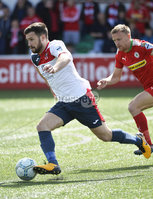 Press Eye Belfast - Northern Ireland 12th August 2017. Danske Bank Irish Premier league match between Cliftonville and Ards at Solitude Belfast.. Ards Scott Davidson.  Photo by Stephen  Hamilton / Press Eye