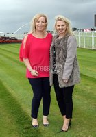 Press Eye © Belfast - Northern Ireland. Photo by Freddie Parkinson / Press Eye ©. Friday 8 September 2017. West Coast Cooler Race Evening at Down Royal Racecourse. Elaine Armstrong and Rosalyn Magee
