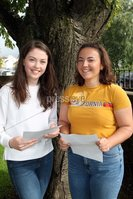 Mandatory Credit - Picture by Freddie Parkinson/Press Eye . Thursday 15 August 2019. Ballyclare High School. A Level Results on the increase once again in Ballyclare High School.. Katie Patterson 3A B and Elliana Green 3A B