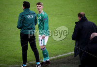 Press Eye - Belfast, Northern Ireland - 18th November 2020 - Photo by William Cherry/Presseye. Last minute instructions from the boss for Northern Ireland\'s Ethan Galbraith during Wednesday nights UEFA Nations League game at the National Football Stadium at Windsor Park, Belfast. Photo by William Cherry/Presseye