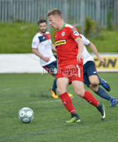 Press Eye Belfast - Northern Ireland 12th August 2017. Danske Bank Irish Premier league match between Cliftonville and Ards at Solitude Belfast.. Stephen Garrett.  Photo by Stephen  Hamilton / Press Eye