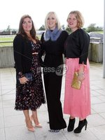 Press Eye © Belfast - Northern Ireland. Photo by Freddie Parkinson / Press Eye ©. Friday 8 September 2017. West Coast Cooler Race Evening at Down Royal Racecourse. Catherine French, Susan Lindsay and Alicia Peyrano