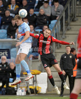 12th October 2019. Danske Bank Irish premiership. Ballymena v Crusaders at Warden Street.. Ballymena\'s Leroy Millar   in action with Crusaders Rory Hale. Mandatory Credit -Inpho/Stephen Hamilton.