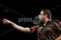Press Eye - Northern Ireland - 20th April 2017 - Photographer - © Matt Mackey / Presseye.com. Betway Premier League Darts, Night 12, The SSE Arena, Belfast.. Dave Chisnall v Adrian Lewis. Adrian Lewis